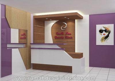 desain interior resepsionis beauty care tangerang jakarta bintaro karawaci serpong