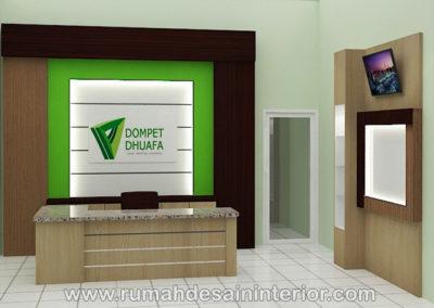 desain interior resepsionis kantor serang tangerang jakarta bintaro karawaci serpong