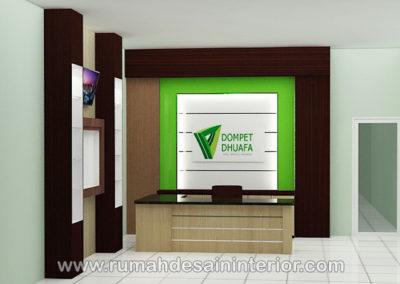 desain interior resepsionis kantor tangerang jakarta bintaro serpong