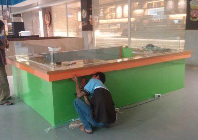 installasi booth hypermart pinangsia karawaci 2