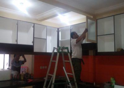 installasi kitchen set depok 1