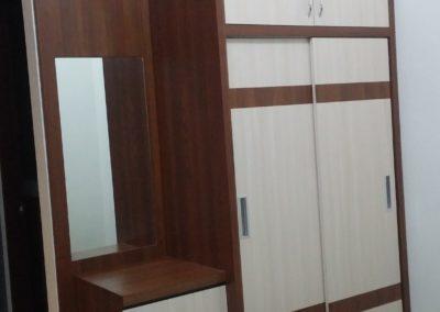 lemari pakaian set apartemen